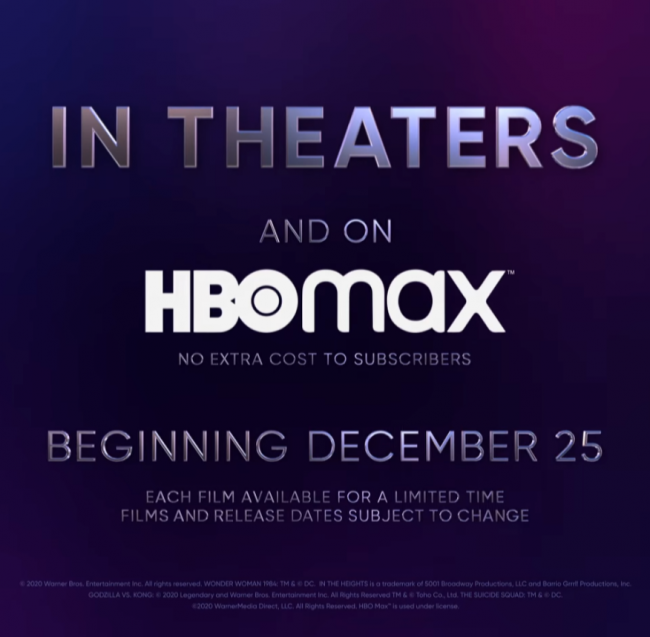 Warner Bros. Will Release Every Movie For 2021 on HBO Max The Same Day